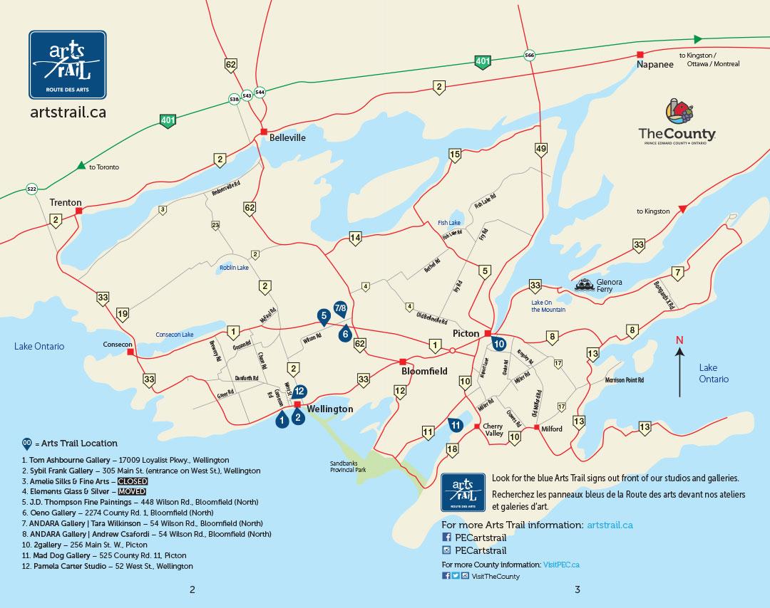 2021 Arts Trail Map